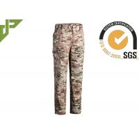 Cheap Multicamo Military Combat Trousers With Cargo Pockets Quick Dry Scratch Resistant for sale