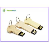 Cheap keychain High Speed Usb Flash Drive , Personalised wooden usb sticks gift wholesale