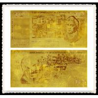 Cheap Old Australian Gold Banknote 10 Old AUD 99.9% Pure 24K Gold Leaf Foil Plated for sale