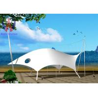 Cheap Polyester Yarn Tensile Fabric Structures Buildings For Beach Knock Down Type wholesale