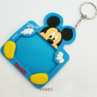 Cheap Mini Photo Frame Keychain For Promotional Gifts, Mickey Silicone Cusomized Picture Frames for sale