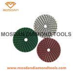 Cheap 4 Inch Dry Flexible Velcro Resin Bonded Diamond Polishing Pads for sale