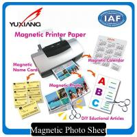 Cheap Inkjet Magnetic Printer Paper , Printable Magnetic Paper Vivid Color Output for sale