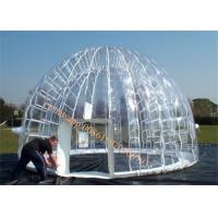 Cheap advertising inflatable clear dome tent / inflatable tent price for sale