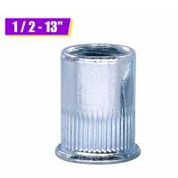Quality Zinc Plated Carbon Steel Blue White Knurled Body Rivet Nut Flat Head Threaded wholesale