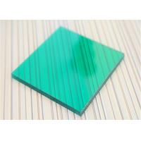 Cheap Unbreakable Polycarbonate Panel Green Color For Underground Garage Exit for sale