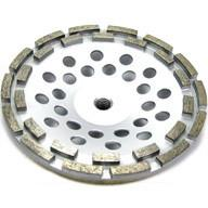 "Quality 12 segment 7"" Inch Concrete and Stone grinding Double Row Diamond Cup Wheel wholesale"