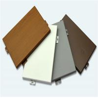 China Factory Price Customized Wood Grain Solid Aluminum Construction Materials Panel on sale