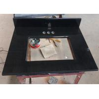 China Black Granite Mozambique Bathroom Countertops And Sinks  22 With Rectangle Cutout on sale