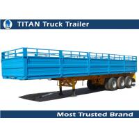 Cheap 50 tons tri-axle semi-trailer with dropping side wall for sale