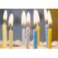 Simple Spiral Striped Birthday Candles With Colorful Dots No Harmful Tearless