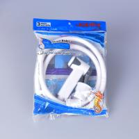 Cheap jk-3046 egypt bangladesh middle east lower price white color abs plastic hand bidet shattaf set with 1.2m pvc hose for sale