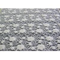 Cheap Washable Brushed Floral Lace Stretch Fabric / NylonCotton Spandex Fabric CY-LQ0043 for sale