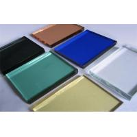 Cheap 10mm Decorative Glass Panels , Silk Screen Print Colored Glass Sheets for sale