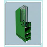 Cheap Anodized / Powder Coated Window Aluminum Profile Green Color ISO Certification for sale