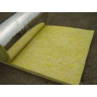 Cheap Glass wool thermal insulation blanket with Alum.foil for sale