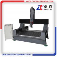 Cheap 600mm Z axis 4 axis Stone Carving Machine CNC Router for marbel Granite ZK-1212-5.5KW for sale