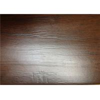 China Hand Scraped Laminate Floor Boards , Brown Wooden DIY Floating Floor on sale