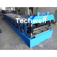 Cheap 18 Forming Stations Roof Roll Forming Machine With Manual Or Hydraulic Type Decoiler / Uncoiler for sale