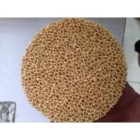 Cheap Excellent Filtering Effect Silicon Carbide Ceramic Filter Improve Casting Performance for sale