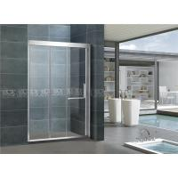 Cheap Stainless Steel Double Sliding Glass Shower Doors L Shape Handle For Hotel for sale