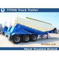 Cheap 48cbm Bulker cement trailer with famous brand air compressor and diesel engine for sale