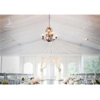 Cheap White Water Repellent PVC Fabric Cover Aluminum Frame Wedding Decoration Tent for sale