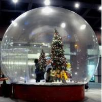 Cheap Snow Globe / Crystal Ball Inflatable Bubble Tent For Christmas Activities for sale