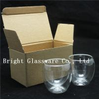 China double wall thermo glasses, double wall wine glasses for wholesale on sale