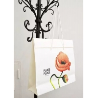 Cheap Folded gift paper bag with high quality material & beautiful printing for sale