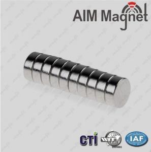 China N 42 disc nickel-coating industrial application neodymium magnet on sale
