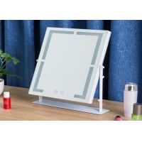 Cheap Illuminated Magnifying LED Desktop Mirror With Light , Square Led Mirror for sale