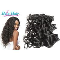 Cheap Colored Ombre / Bright Red Hair Extensions , Kinky Curl / Body Wave Human Hair for sale