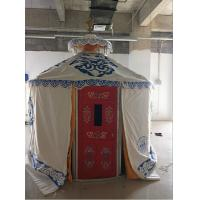 Cheap Windproof Luxury Mongolian Yurt With Insulation Blanket Inside Decorative for sale