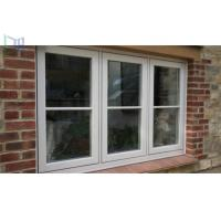 Cheap Double Tempered Glass French Aluminium Casement Windows for Commercial Building for sale