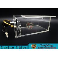 Cheap 6 Decks Casino Card Box / Poker Card Box With Metal Handle Easy To Carry wholesale