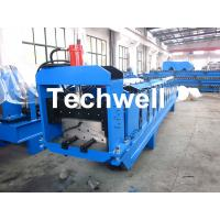 Cheap Metal Top Ridge Tile Roll Forming Machine With 15 Forming Stations , PLC Control System for sale