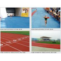 Buy cheap Outdoor Rubber Flooring Running Track Surfaces for High School , College from Wholesalers