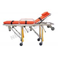 Cheap Foldable Aluminum alloy Ambulance Stretcher Trolley with ISO9001 / 13485 for sale