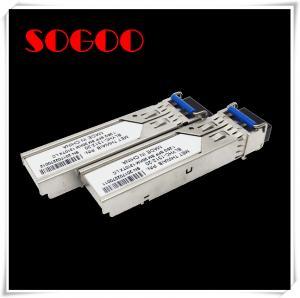 Cheap SFP-10G-ZR 10GBASE-ZR SFP Fiber Transceiver Module 1550nm LC Connectors 80km for sale