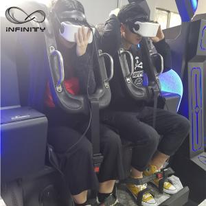Cheap Black / Blue VR Motion Simulator Game Machine Two Seats  VIULUX V8 Glasses for sale
