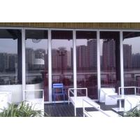 Cheap Stacking Folding Frameless Glass Partitions Provide A Complete Sound Retardant Barrier for sale