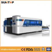 China 2000W Fiber Laser Cutting machine with exchanger working table , laser protection cabinet on sale