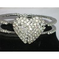 Cheap heart shaped crystal jewelry bangle bracelets for women for sale