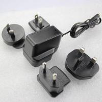 Cheap us to uk extrangeable plug 5v1a power adapter with fcc and bs approved for sale