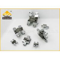 China Commercial Satin Chrome Plate Concealed Hinges For Interior Doors / Cupboard on sale