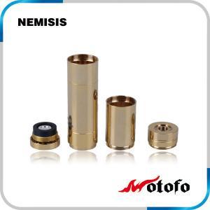 China Full mechanical nemesis mod e cig stainless steel / Pure copper material e-cig nemesis mod on sale