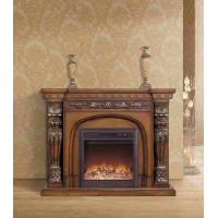 Buy cheap Luxury Reception Room European Solid Wood Fireplaces Freestanding from Wholesalers