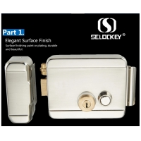 China Electric Double Cylinder High Security Nickel Plating Rim Door Locks on sale