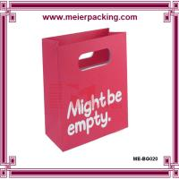 China Eco friendly customized shopping paper bags with logo/Cut-out paper bags ME-BG020 on sale